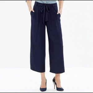 Madewell Crop Navy Trousers